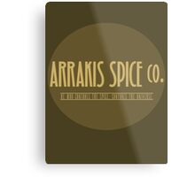Dune - Arrakis Spice co. (version 2) Metal Print