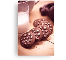 All brown biscuits and sweets Canvas Print