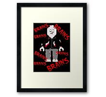 A LOT OF BRAINS - ZOMBIE MINIFIG Framed Print