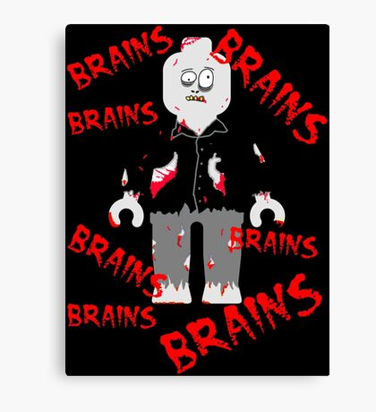 A LOT OF BRAINS - ZOMBIE MINIFIG Canvas Print