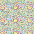 Lime Pastel Paisley by wiccked