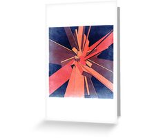 Vintage Orange Rectangles Greeting Card