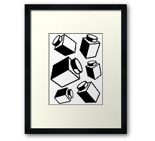 1 x 1 Bricks (AKA Falling Bricks), Customize My Minifig Framed Print