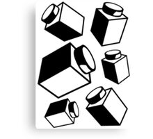 1 x 1 Bricks (AKA Falling Bricks), Customize My Minifig Canvas Print