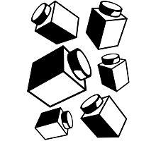 1 x 1 Bricks (AKA Falling Bricks), Customize My Minifig Photographic Print
