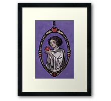 Snow Organa and the Poisoned Death Star Framed Print