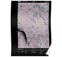 USGS Topo Map Washington State WA Oman Ranch 20110406 TM Inverted Poster