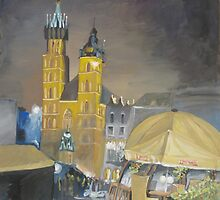 Krakow at night by Redilion