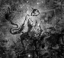 When The Stars Are Right - The Eagle Nebula in Serpens (black & white version) by Richard Maier