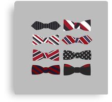 heart eyes and bow ties Canvas Print