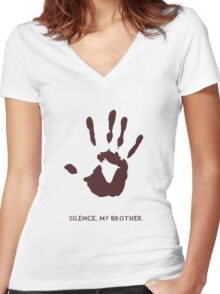Dark Brotherhood: Silence, my brother Women's Fitted V-Neck T-Shirt