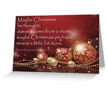 Christmas Card - Dr Seuss Greeting Card