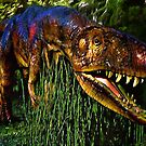 Dinosaur in Reeds by Jerry L. Barrett