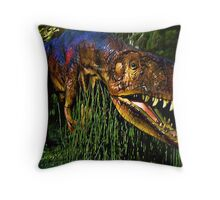 Dinosaur in Reeds Throw Pillow