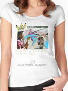 I am not a black artist Women's Fitted Scoop T-Shirt