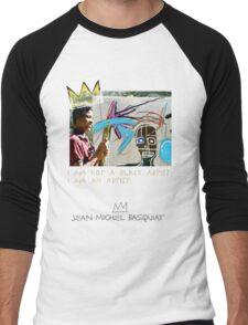 I am not a black artist Men's Baseball ¾ T-Shirt