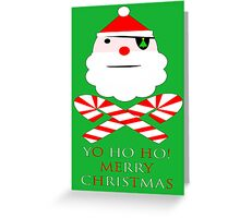 santa jolly roger yo ho ho Greeting Card