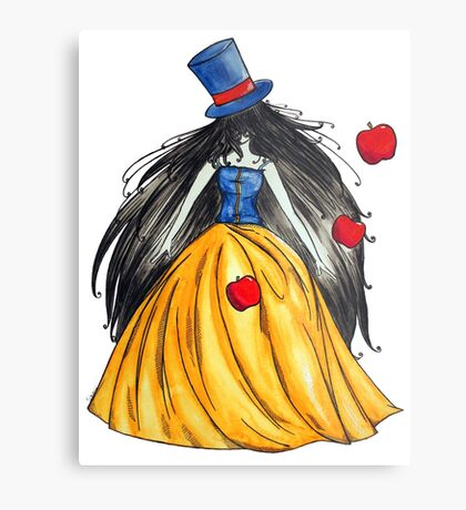 Who is the mad hatter ? Snow White | Blanche Neige  Metal Print