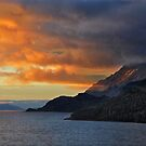 Sunset on the Chilean Fiords by Peter Hammer