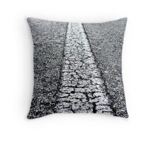 A very long road Throw Pillow
