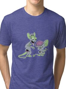 Pinky and the Braaaains! Tri-blend T-Shirt