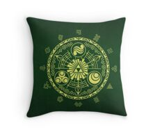 Zelda Triforce Art Logo Throw Pillow