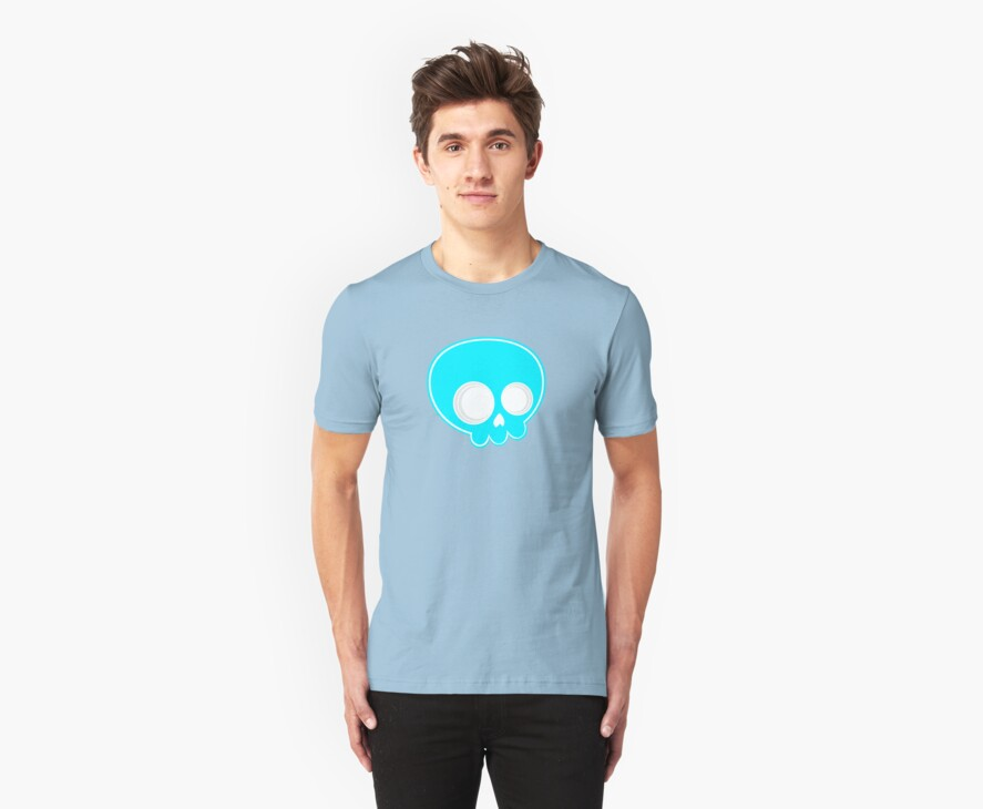 Blue skull test by FAMOUSAFTERDETH