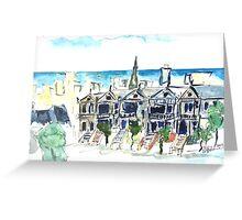 San Francisco Victorian houses Greeting Card