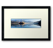 Reflections on Lake Bled Framed Print