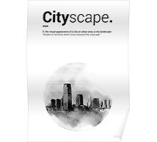 Luke Roberts / Cityscape / Cross Hatch Poster