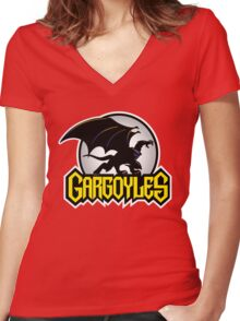 Retro Gargoyles Women's Fitted V-Neck T-Shirt