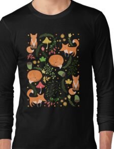 Foxes pattern Long Sleeve T-Shirt