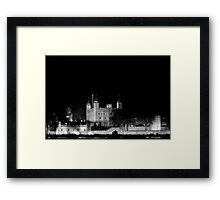 Tower of London at night Framed Print