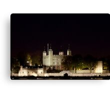 Tower of London at night Canvas Print