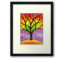 Autumn- Releasing the Old Framed Print