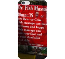 Drinks and Massage iPhone Case/Skin