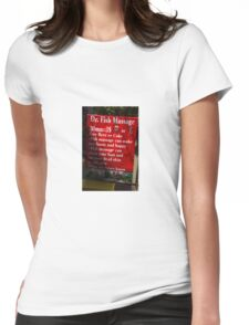 Drinks and Massage Womens Fitted T-Shirt