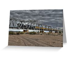 Crossing the Trestle Greeting Card