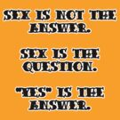 "Funny Quote : ""Sex is not the answer..... by HighDesign"