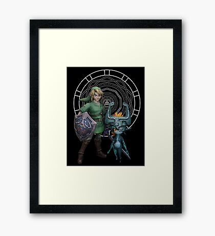 The Legend of Link and the Twilight Princess Framed Print
