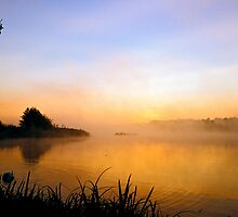 Misty sunrise by Gary Rayner