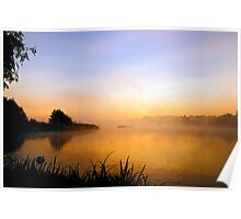 Misty sunrise Poster