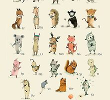 ABC Animals Alphabet Poster by PaolaZakimi