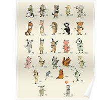 ABC Animals Alphabet Poster Poster