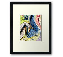 Allah name  abstract painting Framed Print