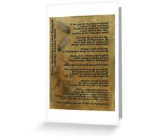 """Live Your Life""  on old parchment, Chief Tecumseh Greeting Card"