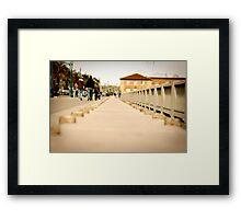 Walking down the Embarcadero Framed Print