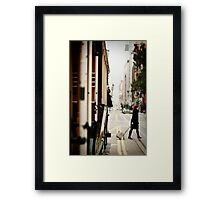 Cable Car Crossing Framed Print