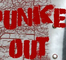 Punked Out T Shirt Sticker
