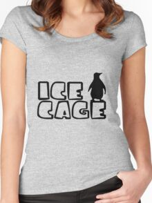 Ice Cage Penguin Women's Fitted Scoop T-Shirt